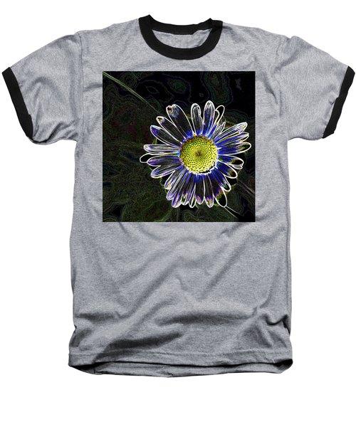 Psychedelic Daisy Baseball T-Shirt