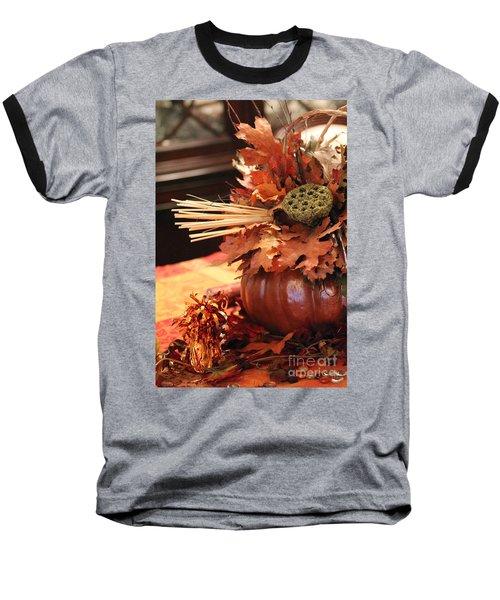 Pumpkin Leaf Decor Baseball T-Shirt