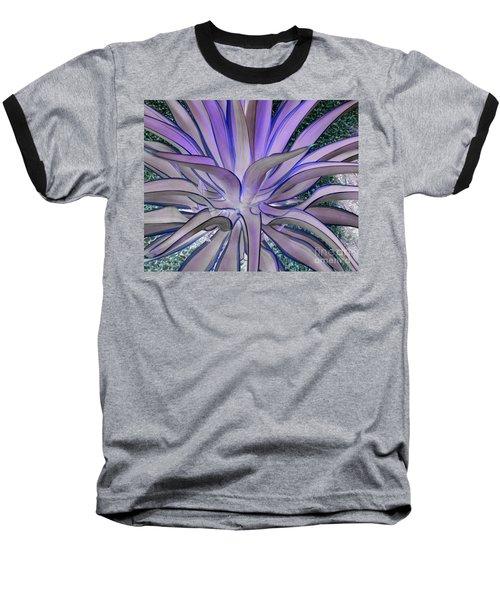 Purple Aloe Baseball T-Shirt by Rebecca Margraf