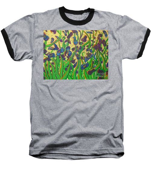 Purple Flowers Baseball T-Shirt