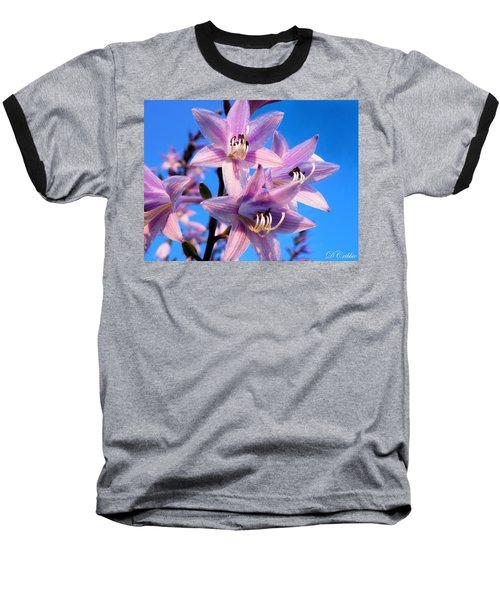 Baseball T-Shirt featuring the photograph Purple Hosta Blooms by Davandra Cribbie