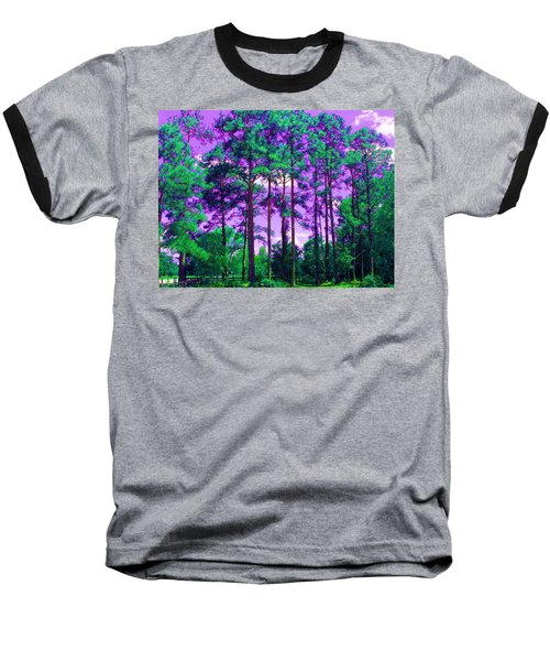 Baseball T-Shirt featuring the photograph Purple Sky by George Pedro