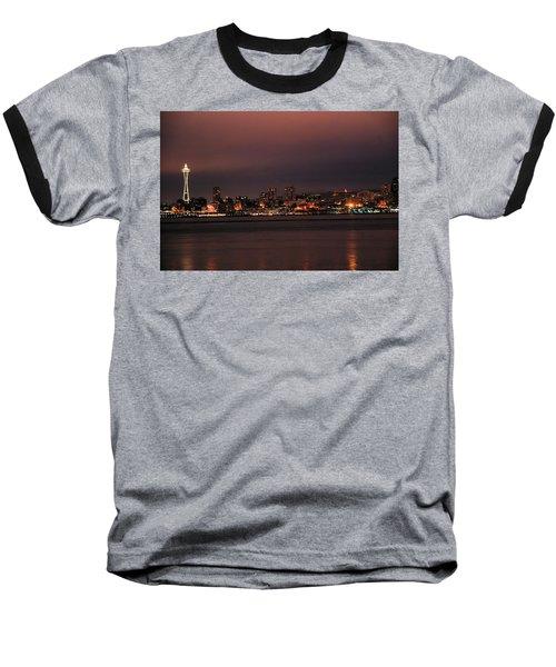 Purple Sky Morning Baseball T-Shirt