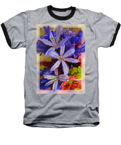 Baseball T-Shirt featuring the photograph Purple Stars by Debbie Portwood