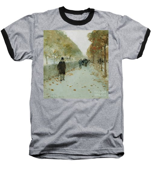Quai Du Louvre Baseball T-Shirt by Childe Hassam