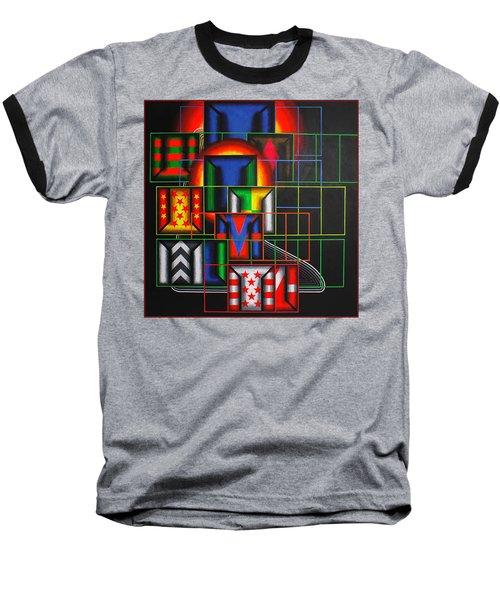 Baseball T-Shirt featuring the painting Quazar by Mark Howard Jones