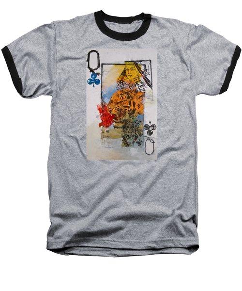 Queen Of Clubs 4-52  2nd Series  Baseball T-Shirt by Cliff Spohn