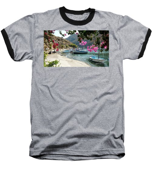 Baseball T-Shirt featuring the photograph Quiet Cove by Therese Alcorn