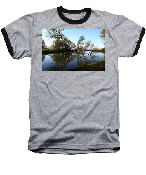 Quiet Reflection Baseball T-Shirt by Davandra Cribbie