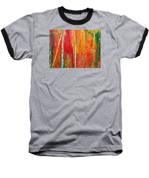 Baseball T-Shirt featuring the painting Quinacridone Hollow  by Dan Whittemore