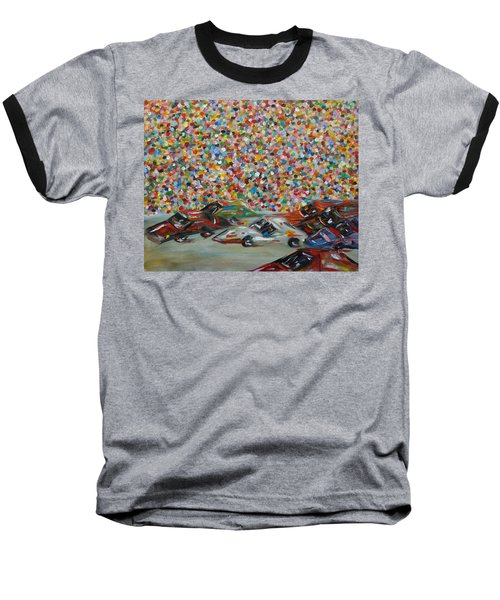 Baseball T-Shirt featuring the painting Race Day by Judith Rhue