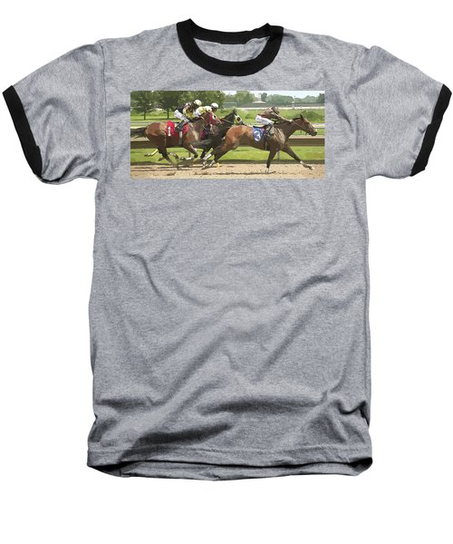 Baseball T-Shirt featuring the photograph Racetrack Views by Alice Gipson