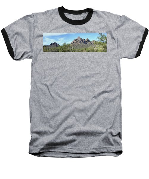 Ragged Top Mountain Panorama Baseball T-Shirt