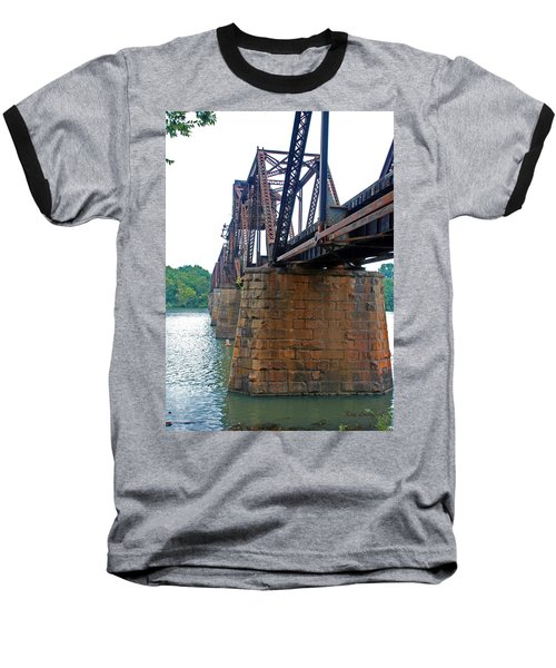 Baseball T-Shirt featuring the photograph Railroad Bridge 2 by Kay Lovingood