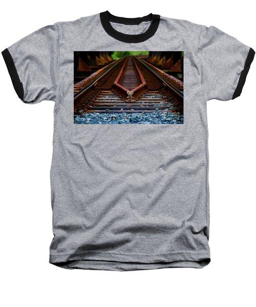 Railway Track Leading To Where Baseball T-Shirt