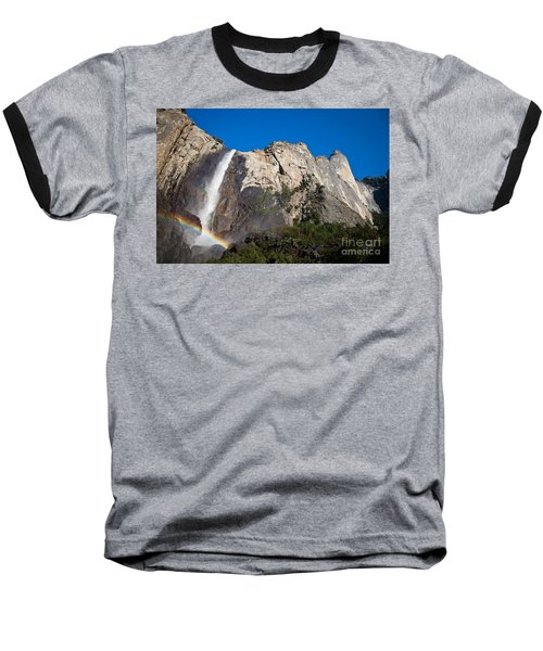 Rainbow On Bridalveil Fall Baseball T-Shirt