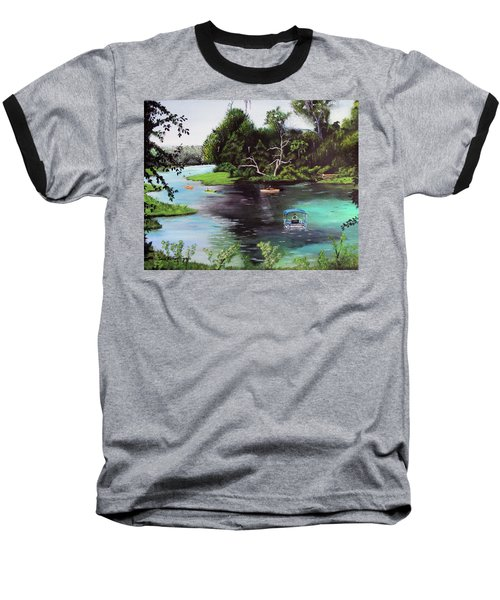 Rainbow Springs In Florida Baseball T-Shirt by Luis F Rodriguez