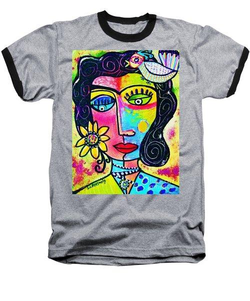 Rainbow Sunshine Frida Baseball T-Shirt