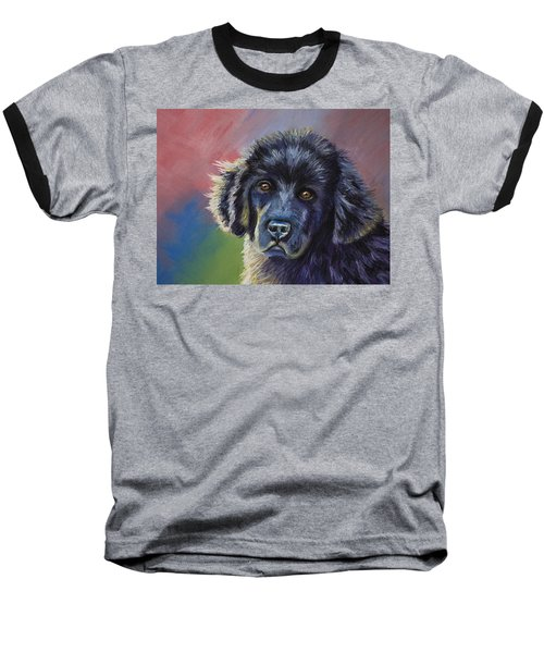 Rainbows And Sunshine - Newfoundland Puppy Baseball T-Shirt