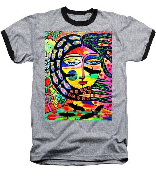 Raven Goddess Baseball T-Shirt