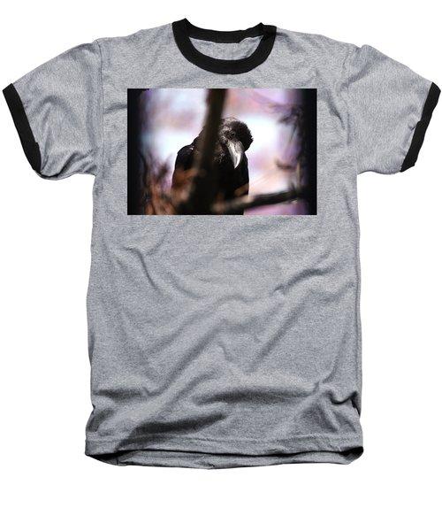 Raven Outside My Window Baseball T-Shirt