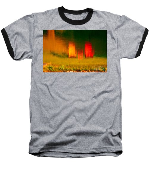 Baseball T-Shirt featuring the photograph Red And Orange Chairs by Les Palenik