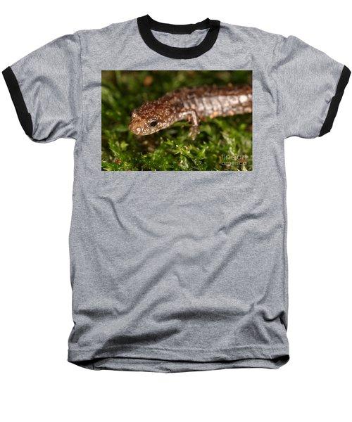 Red-backed Salamander Baseball T-Shirt by Ted Kinsman