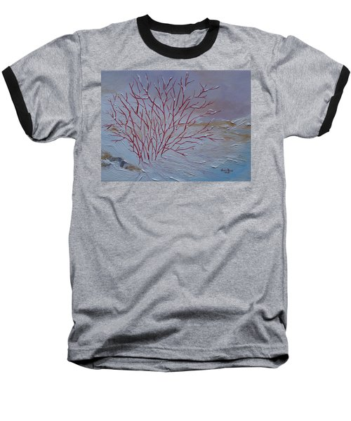 Red Branches Baseball T-Shirt by Judith Rhue