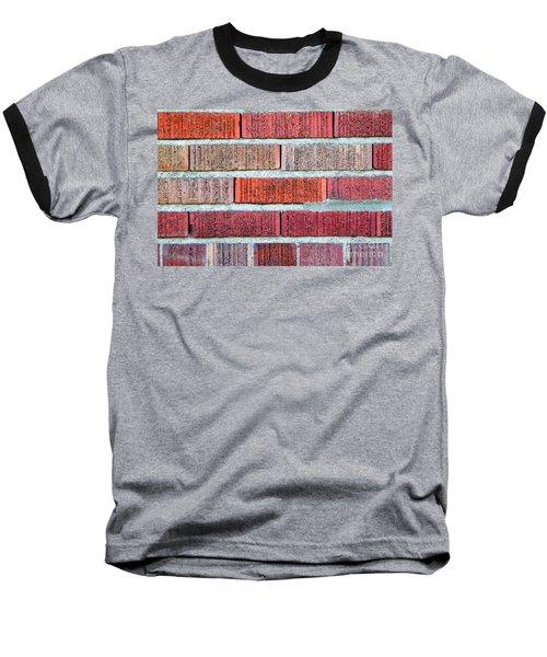 Red Brick Wall Baseball T-Shirt