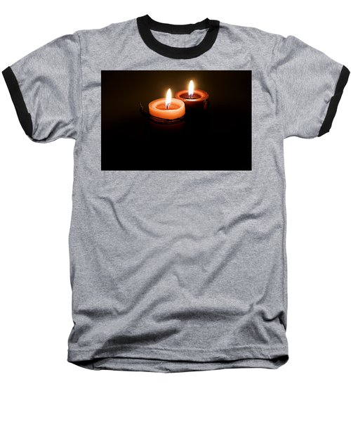 Red Candles Baseball T-Shirt
