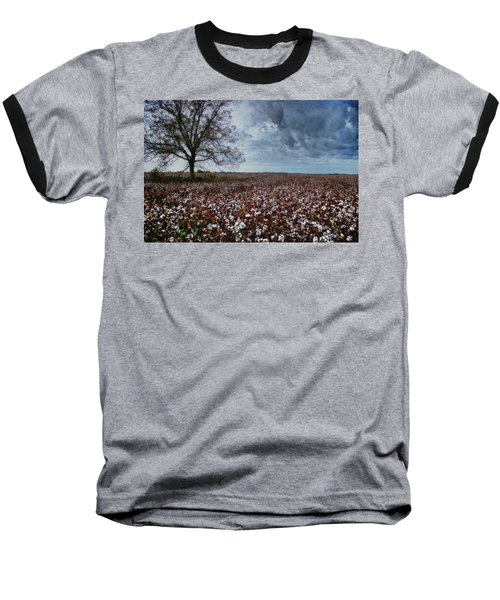 Red Cotton And The Tree Baseball T-Shirt by Michael Thomas