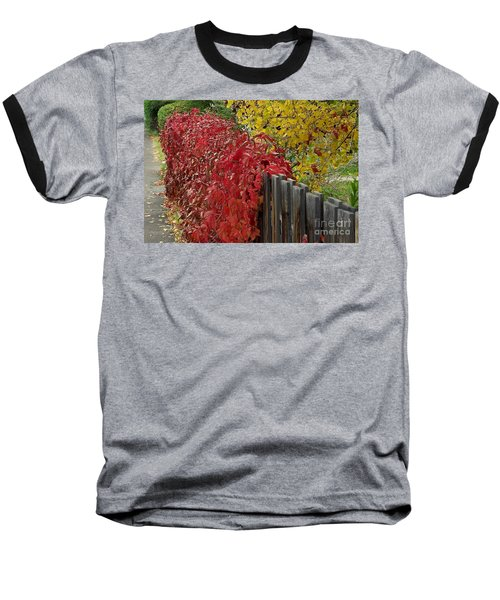 Red Fence Baseball T-Shirt