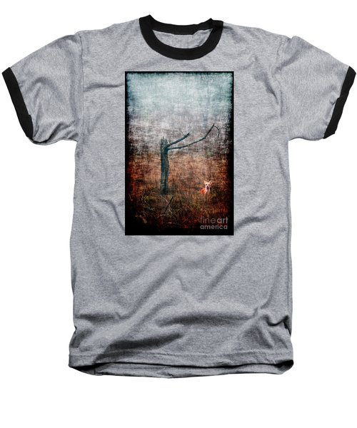 Baseball T-Shirt featuring the photograph Red Fox Under Tree by Dan Friend
