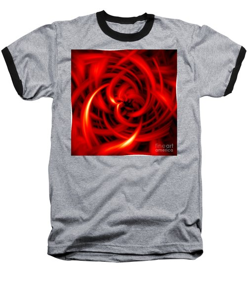 Baseball T-Shirt featuring the digital art Red Hot by Davandra Cribbie