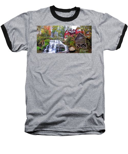 Red House By The Waterfall 2 Baseball T-Shirt
