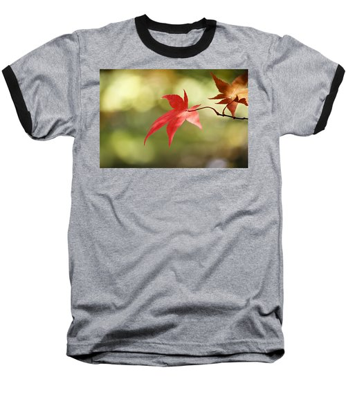 Baseball T-Shirt featuring the photograph Red Leaf. by Clare Bambers