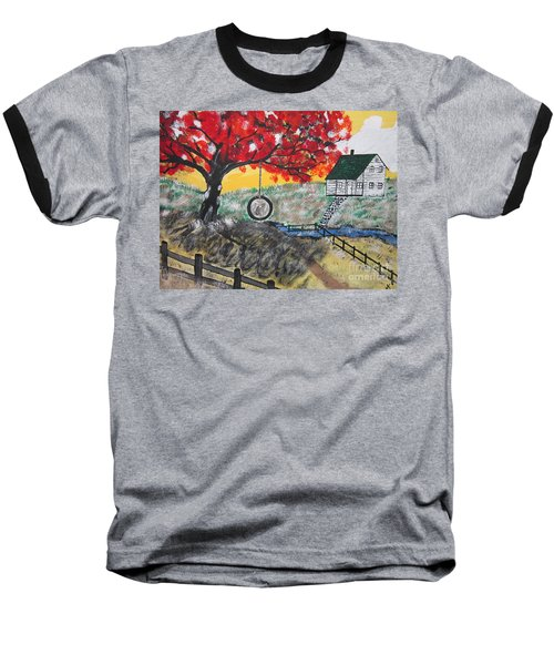 Baseball T-Shirt featuring the painting Red Maple  Swing by Jeffrey Koss