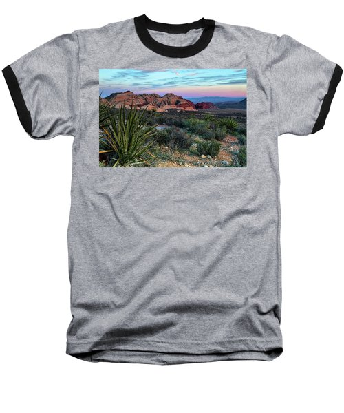 Red Rock Sunset II Baseball T-Shirt by Rick Berk