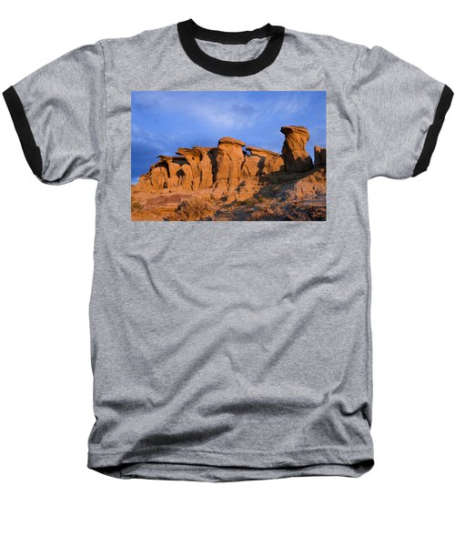 Red Rock Sunset Baseball T-Shirt