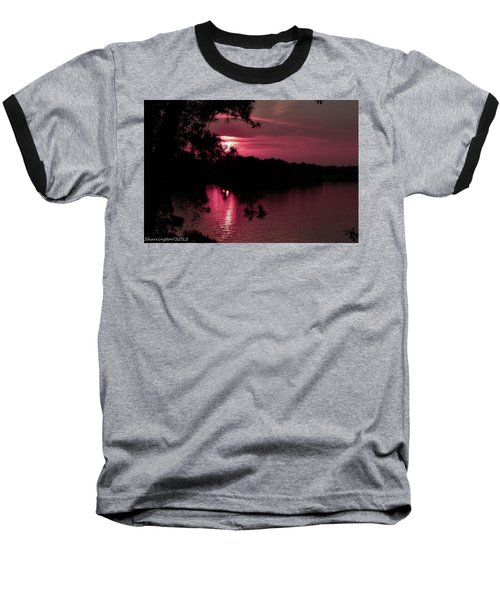 Red Sky At Night Baseball T-Shirt by Shannon Harrington