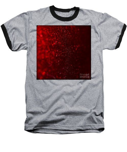 Red Sparkle Baseball T-Shirt
