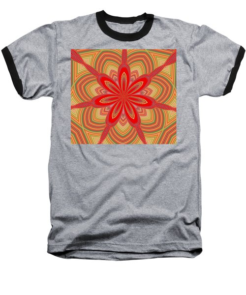 Red Star Brocade Baseball T-Shirt by Alec Drake