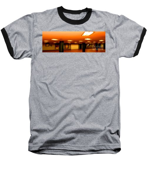 Baseball T-Shirt featuring the photograph Red Subway by Andy Prendy