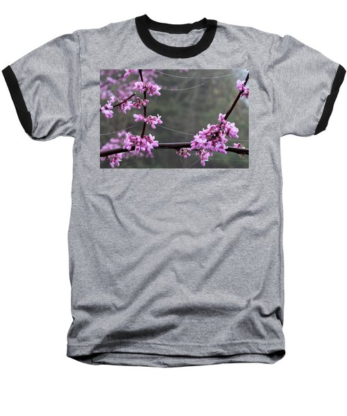 Redbud With Webs And Dew Baseball T-Shirt