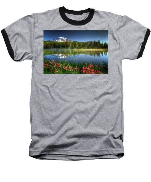 Baseball T-Shirt featuring the photograph Reflection Lakes by William Lee