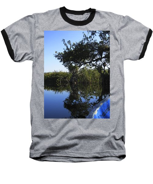 Reflection Of Arched Branches Baseball T-Shirt by Anne Mott