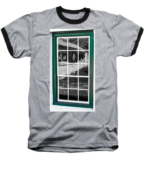 Reflections Of The Past Baseball T-Shirt by Shannon Harrington