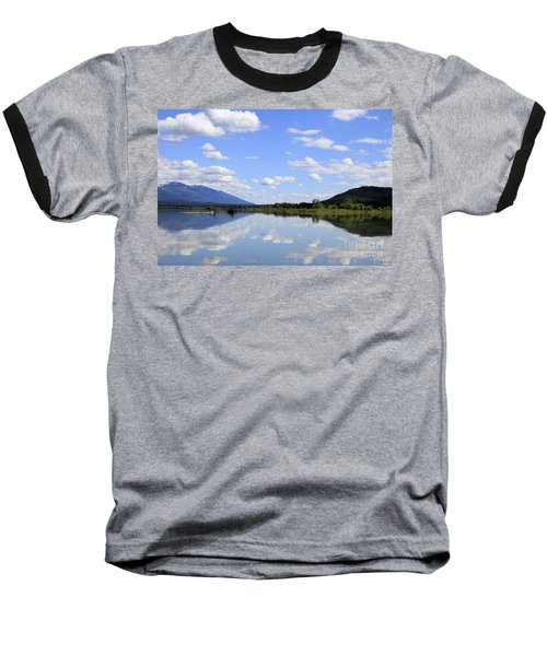 Baseball T-Shirt featuring the photograph Reflections On Swan Lake by Nina Prommer