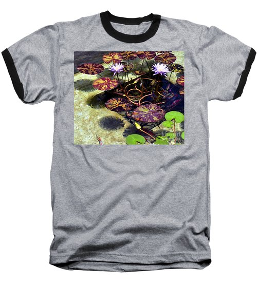 Reflections On Underwater Life Baseball T-Shirt by Clayton Bruster