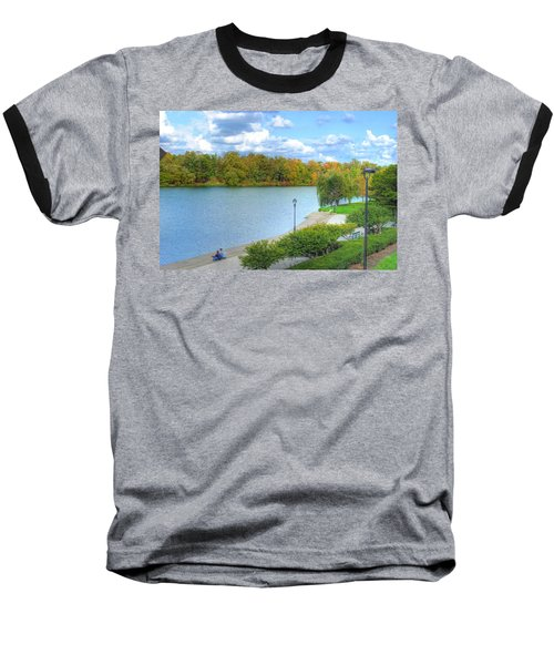 Baseball T-Shirt featuring the photograph Relaxing At Hoyt Lake by Michael Frank Jr